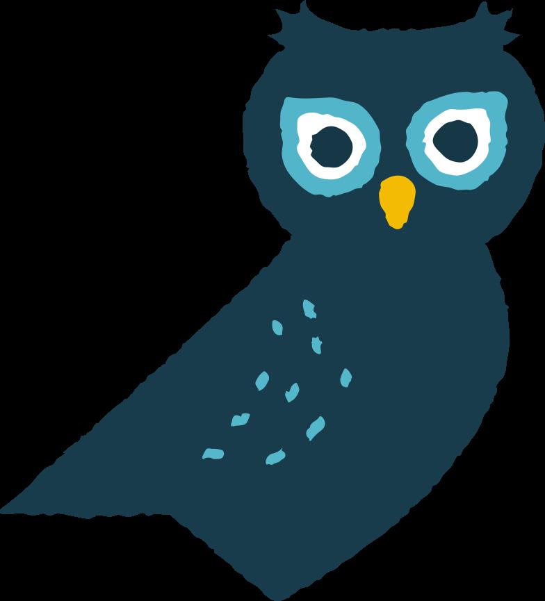 Ilustración de clipart de owl en PNG, SVG