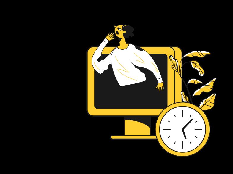 Time to make money online Clipart illustration in PNG, SVG