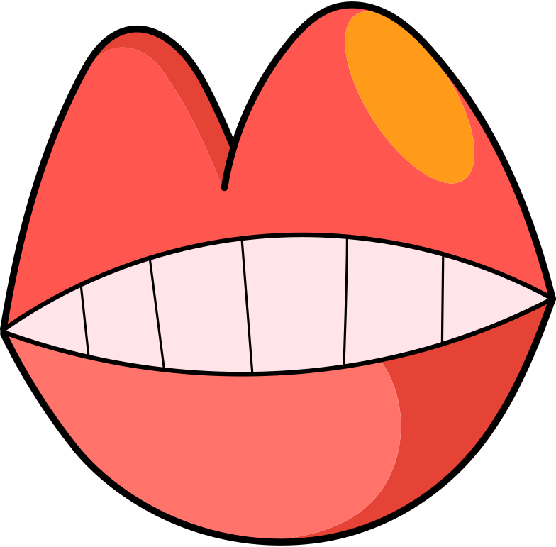 coming soon  lips Clipart illustration in PNG, SVG