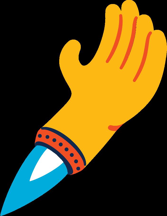 flying hand Clipart illustration in PNG, SVG