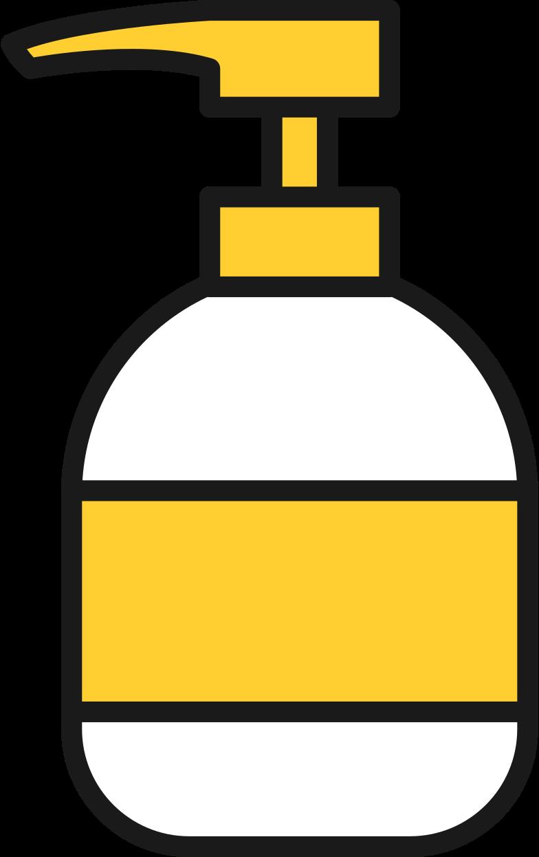liquid soap sanitizer Clipart illustration in PNG, SVG