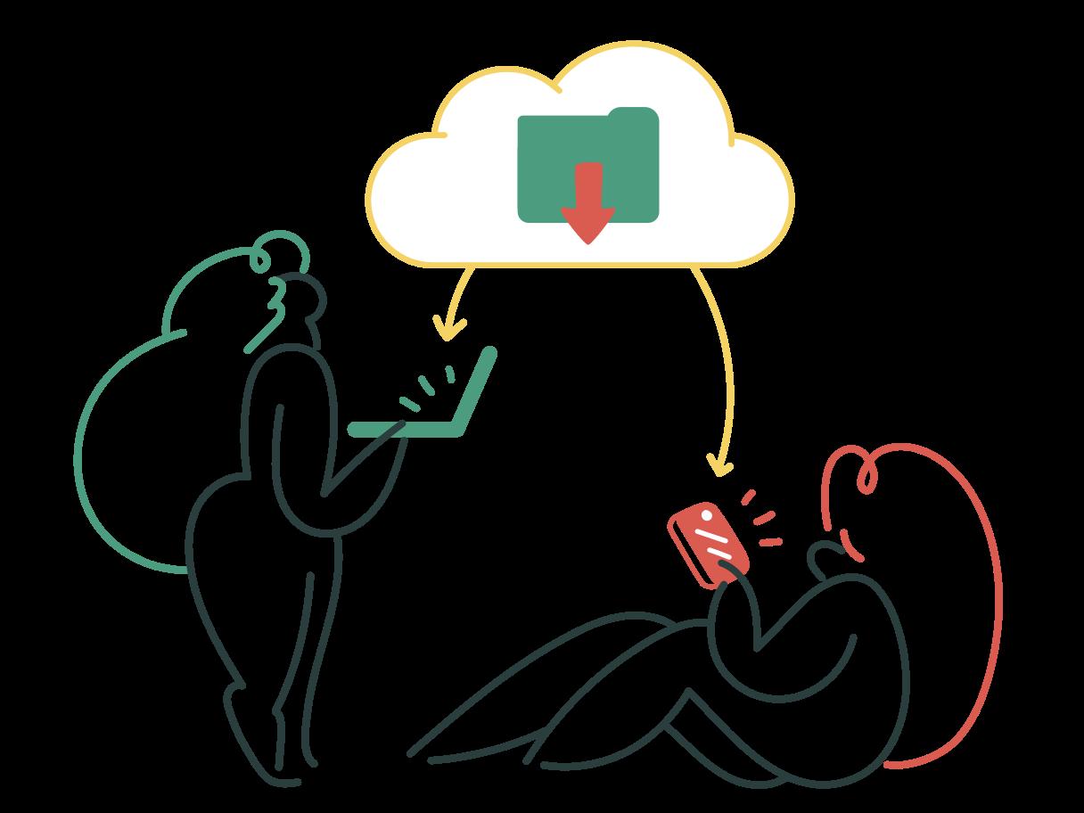 Downloading files Clipart illustration in PNG, SVG