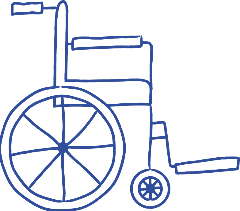 wheel chair Clipart illustration in PNG, SVG