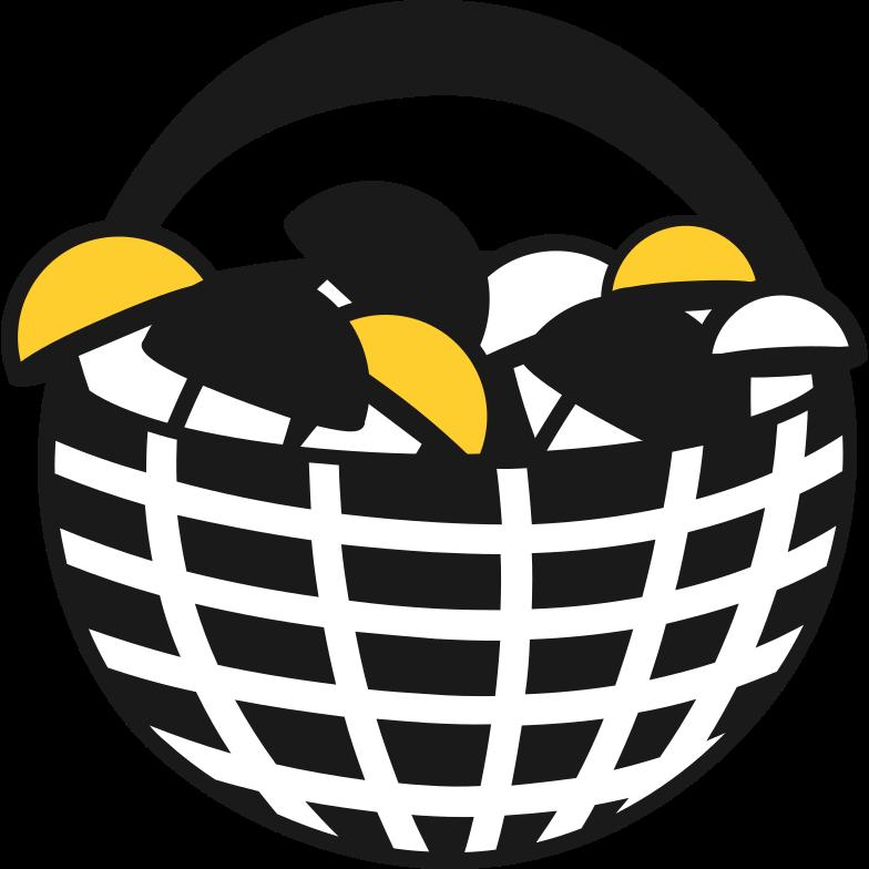 Cestino con funghi Illustrazione clipart in PNG, SVG
