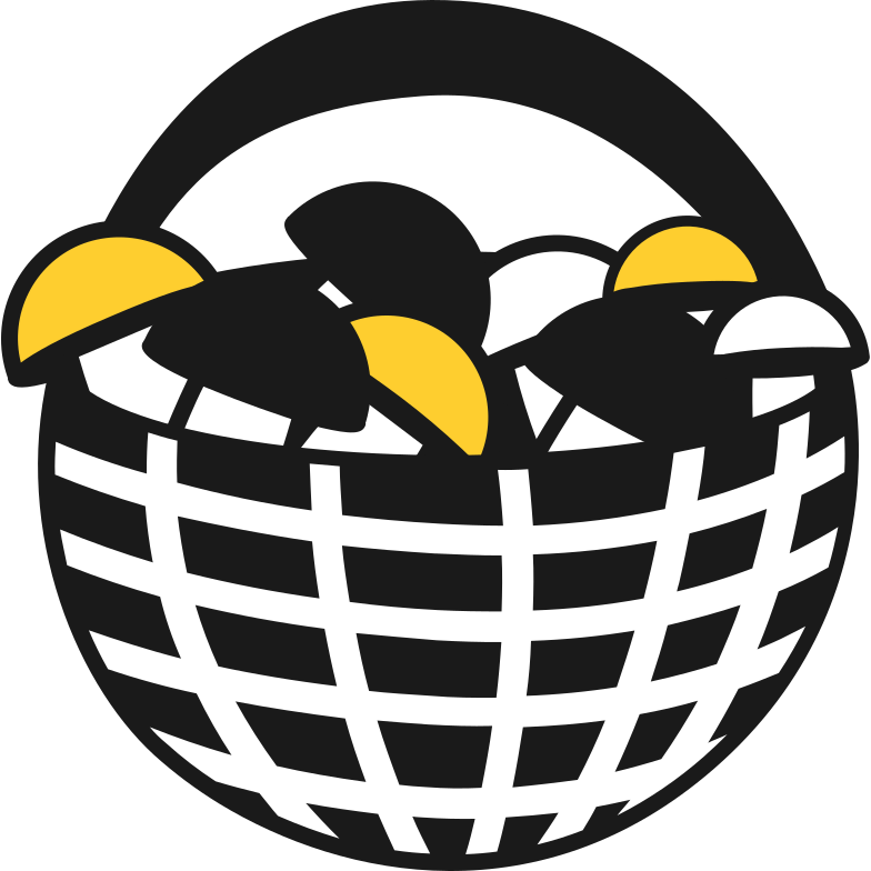 basket with mushrooms Clipart illustration in PNG, SVG