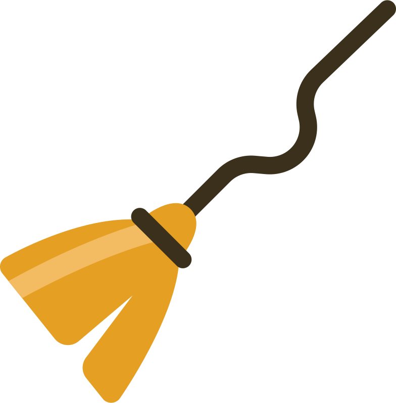 witch broom Clipart illustration in PNG, SVG