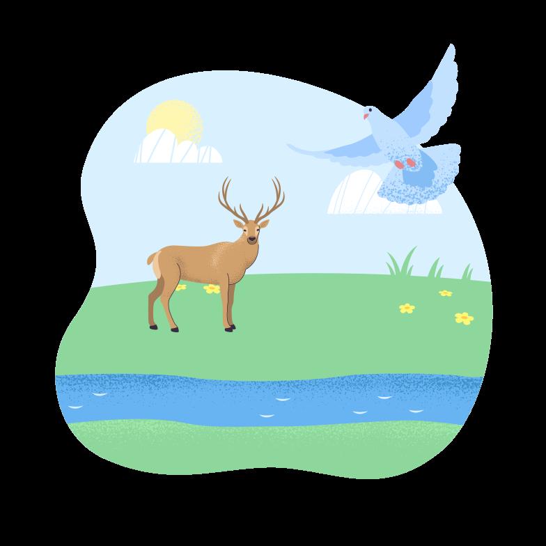 Tierwelt Clipart-Grafik als PNG, SVG