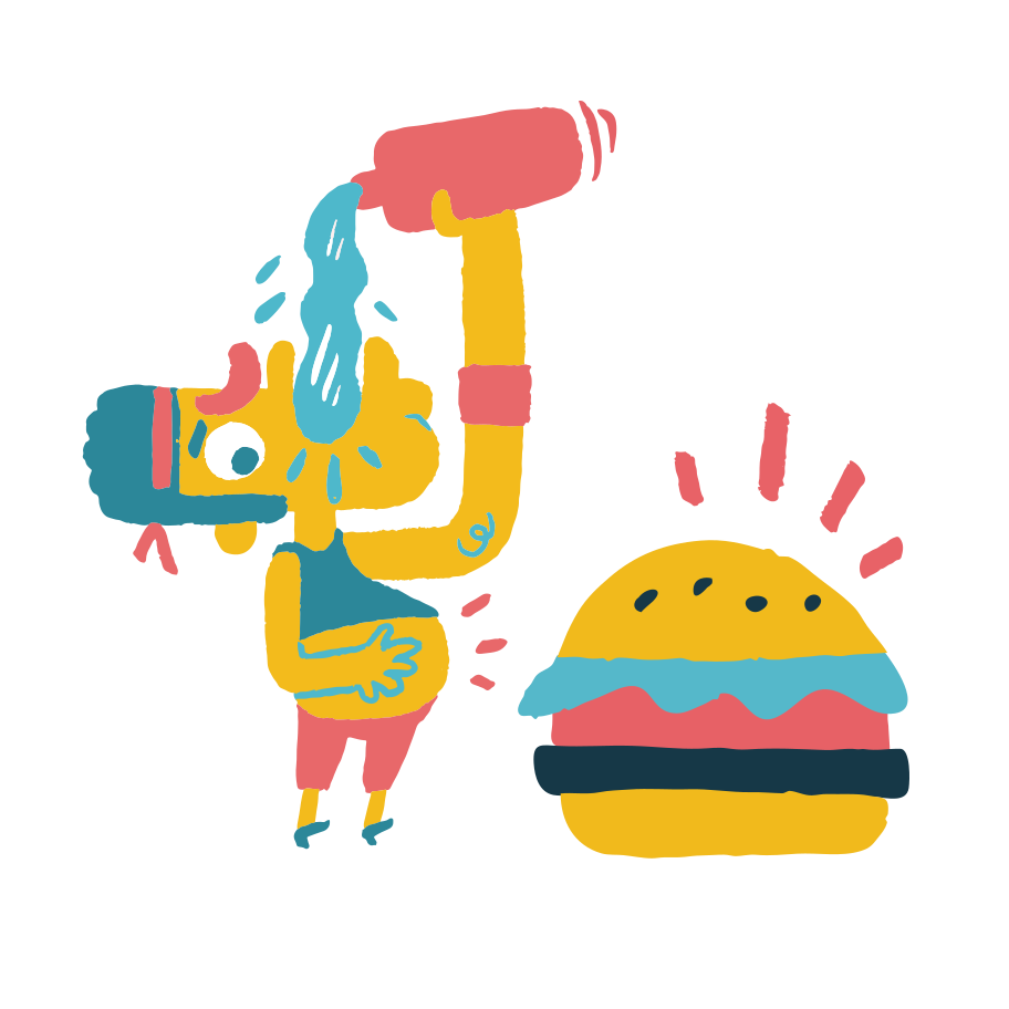 Glutton Clipart illustration in PNG, SVG