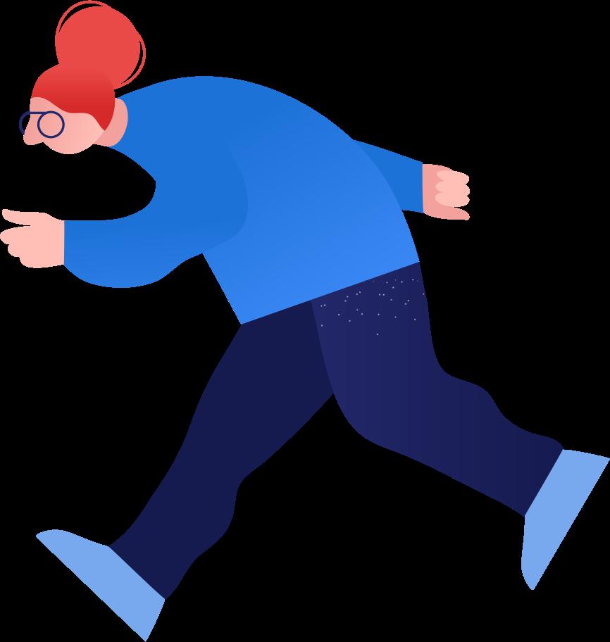 granny run Clipart illustration in PNG, SVG
