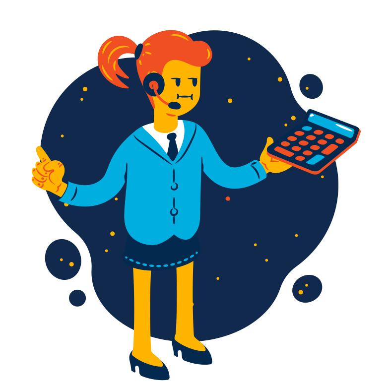 style Businesswoman calculating Vector images in PNG and SVG | Icons8 Illustrations