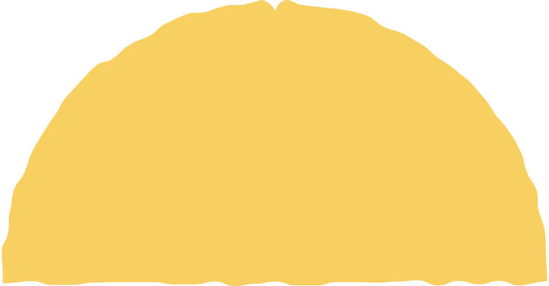 semicircle yellow Clipart illustration in PNG, SVG