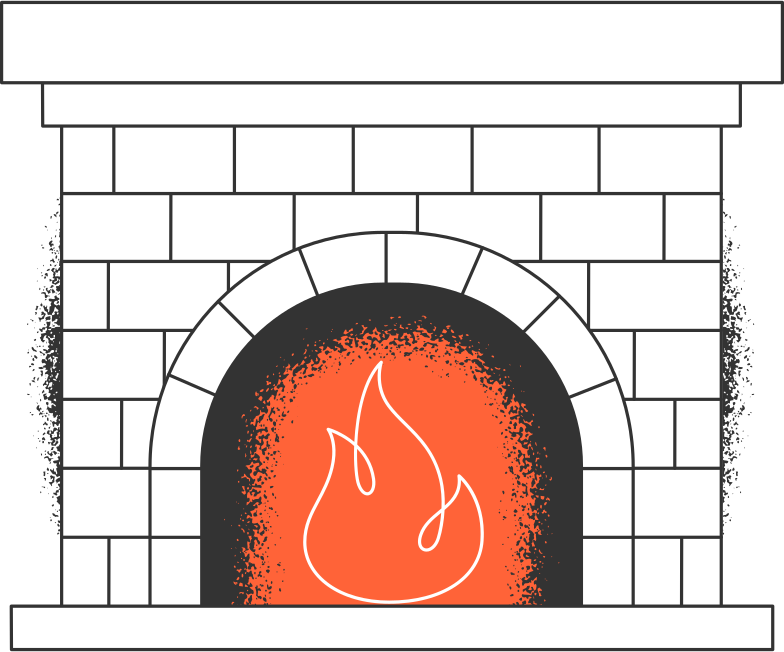 fireplace Clipart illustration in PNG, SVG