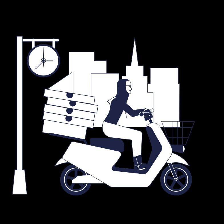 Imágenes vectoriales Delivery de pizza en PNG y SVG estilo  | Ilustraciones Icons8