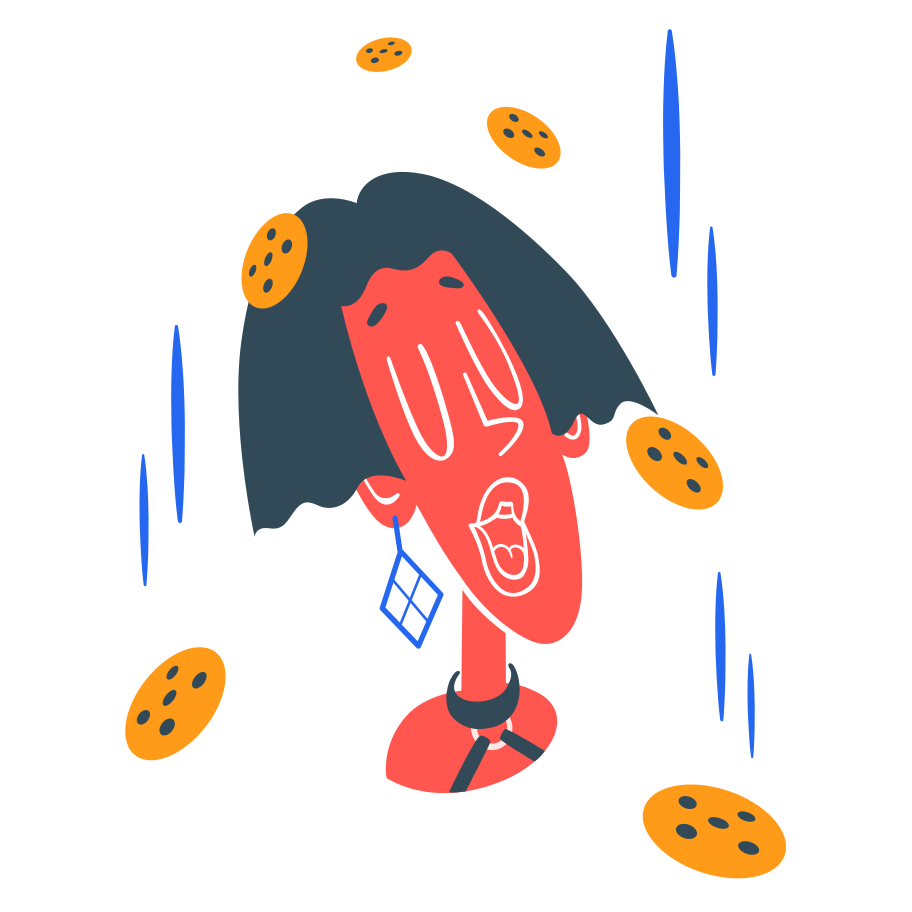 Cookie rain Clipart illustration in PNG, SVG
