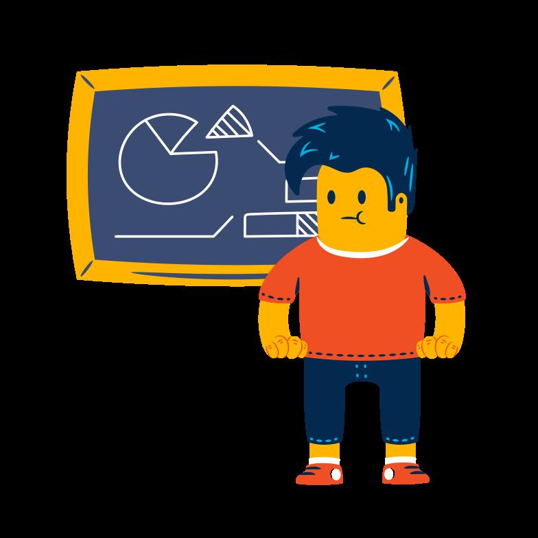 student in der nähe der tafel Clipart-Grafik als PNG, SVG