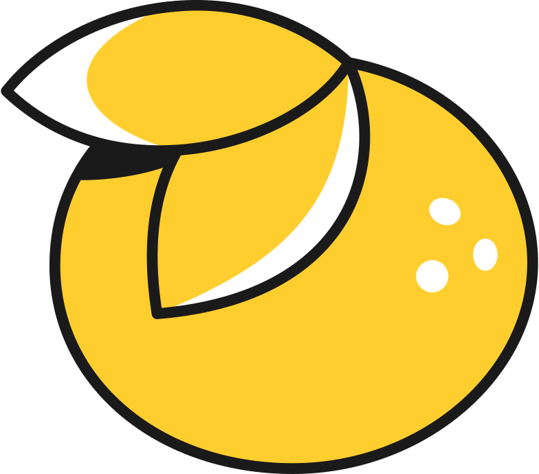 orange Clipart illustration in PNG, SVG