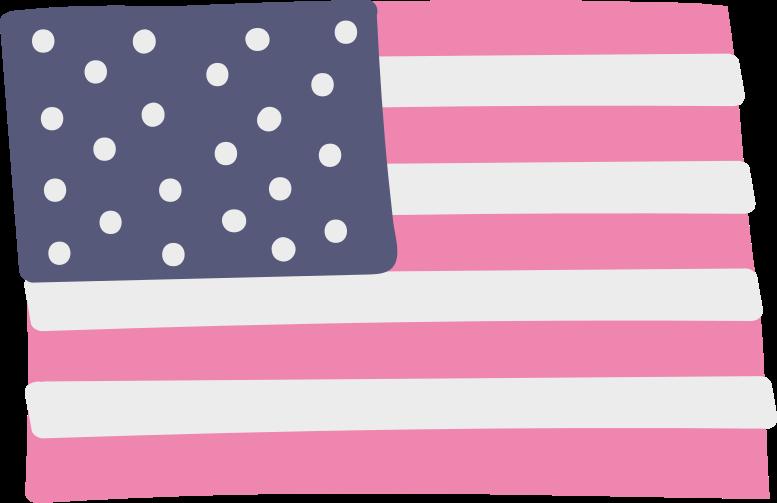 Ilustración de clipart de Bandera estadounidense en PNG, SVG