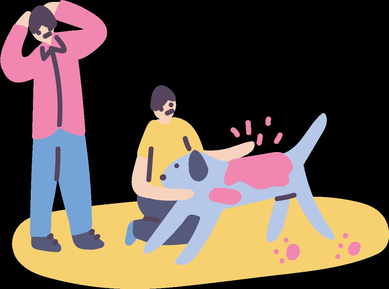 Children, parent, relationships, petting animal Clipart illustration in PNG, SVG