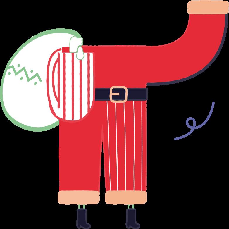 santabody Clipart illustration in PNG, SVG