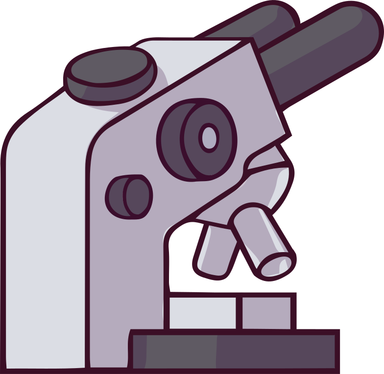 Illustration clipart microscope aux formats PNG, SVG