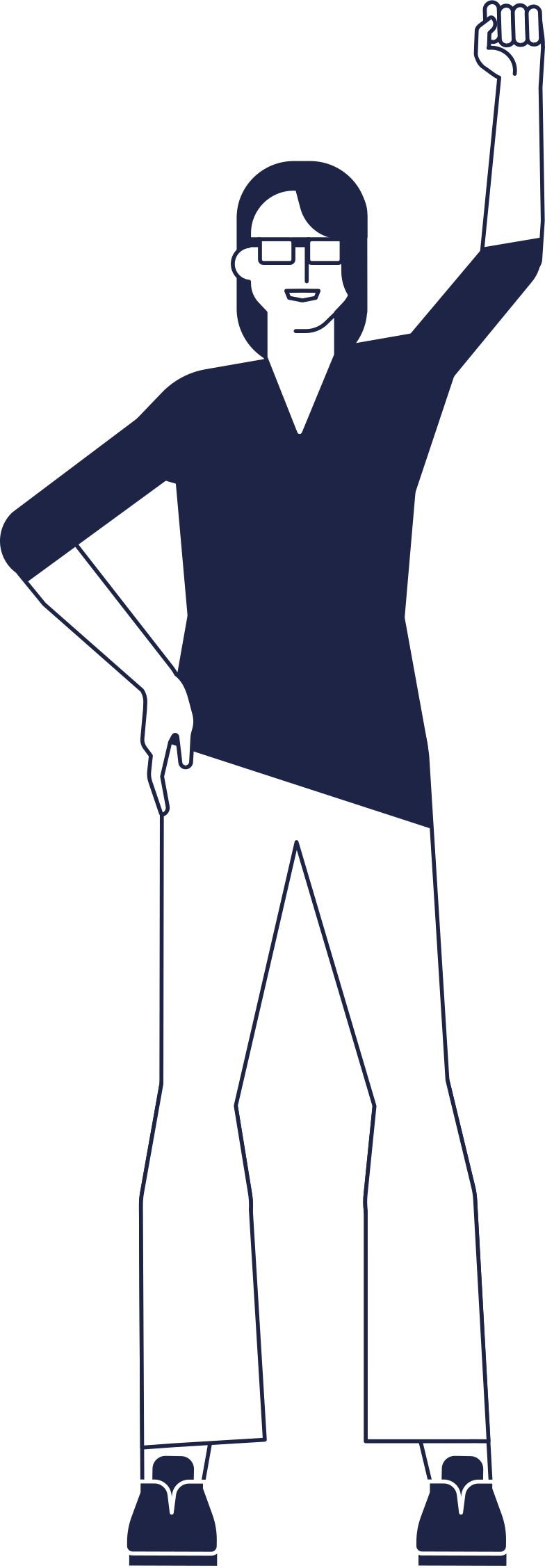 woman activist Clipart illustration in PNG, SVG