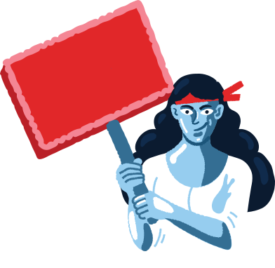style protesting woman images in PNG and SVG | Icons8 Illustrations