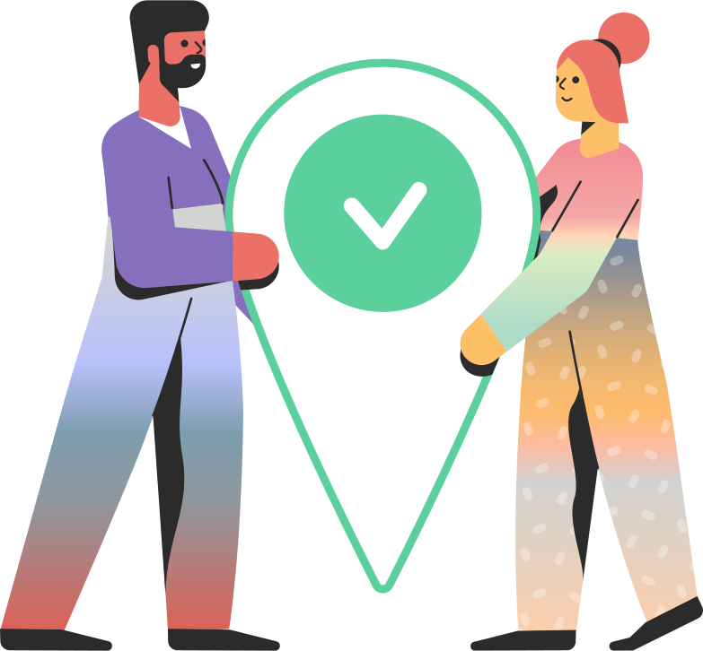 location access  people Clipart illustration in PNG, SVG