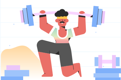 style Getting stronger in the gym images in PNG and SVG | Icons8 Illustrations