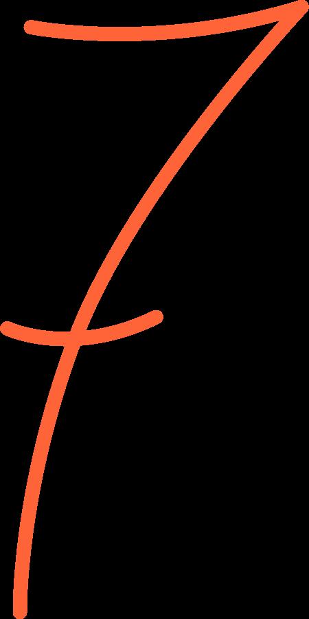 seven Clipart illustration in PNG, SVG