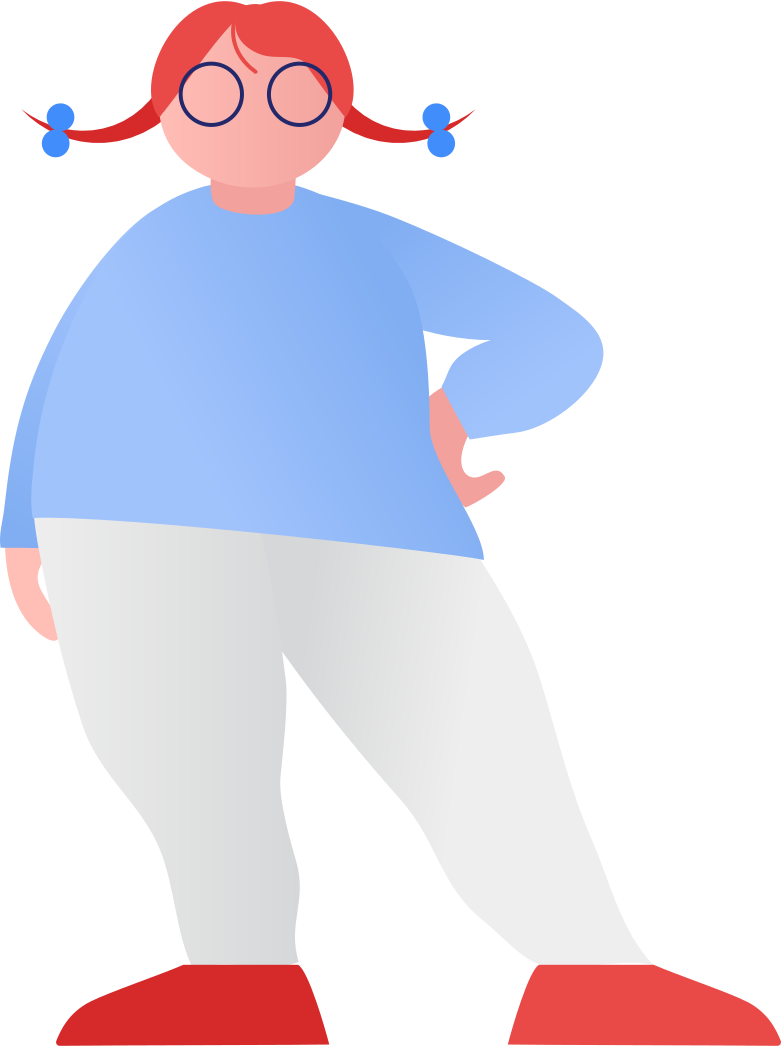 fat girl standing Clipart illustration in PNG, SVG