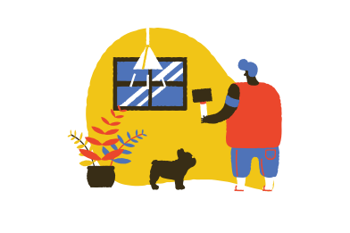 style Handyman fixing window  images in PNG and SVG | Icons8 Illustrations