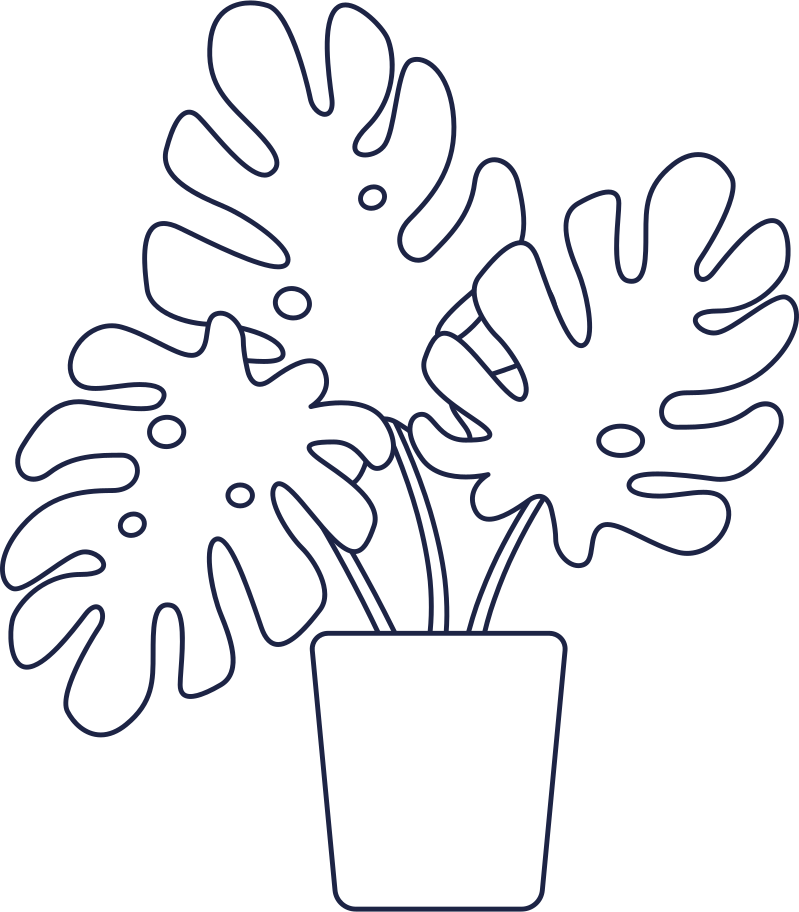waiting  plant line Clipart illustration in PNG, SVG