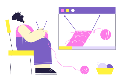 style Online knitting lesson images in PNG and SVG | Icons8 Illustrations