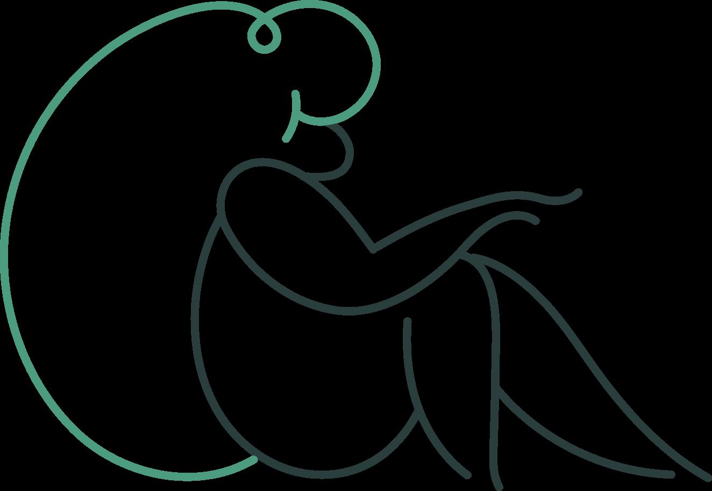 downloading  sitting girl Clipart illustration in PNG, SVG