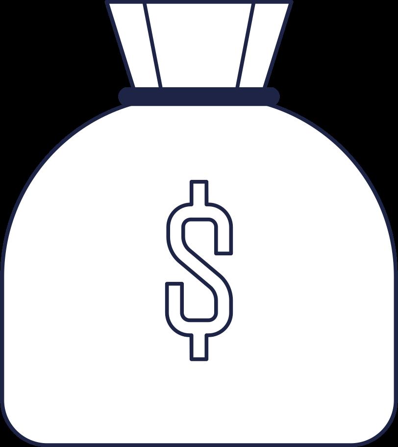 money bag Clipart illustration in PNG, SVG