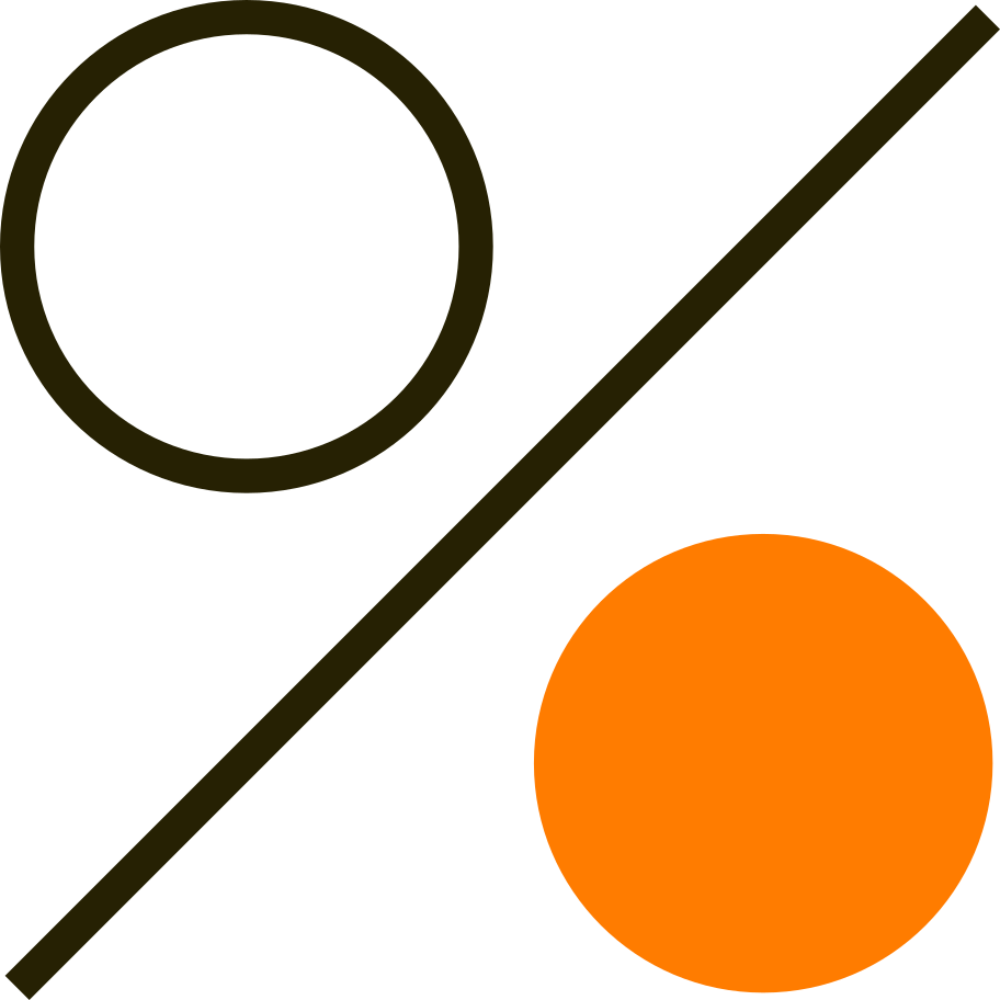 percentage Clipart illustration in PNG, SVG