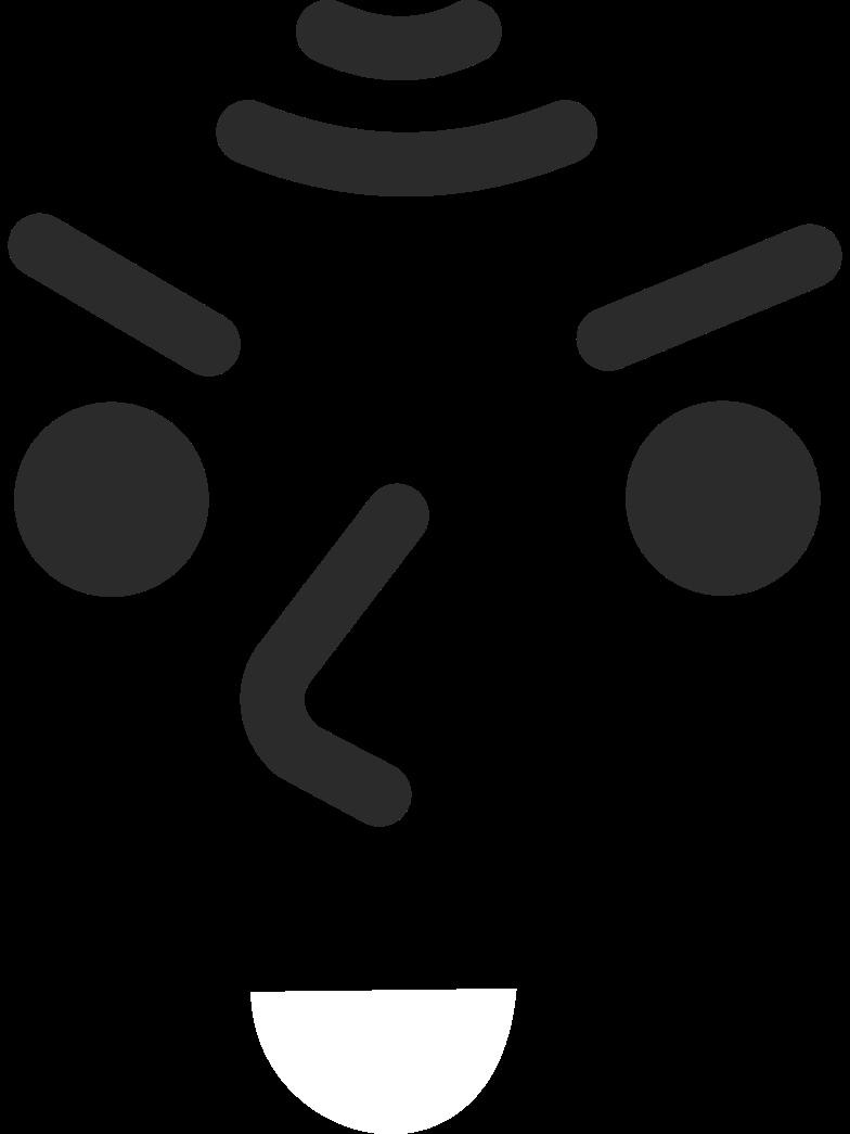 old evil smiling face Clipart illustration in PNG, SVG