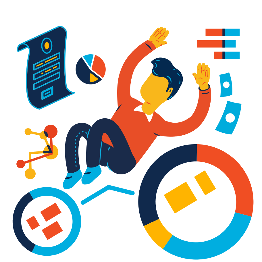 Drawing in the analytic charts Clipart illustration in PNG, SVG