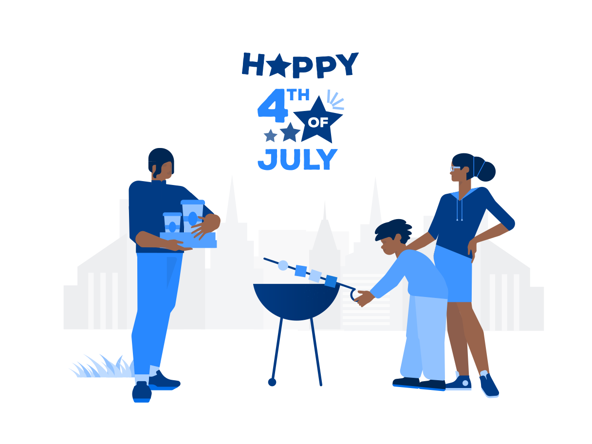 Happy 4th of July! Clipart illustration in PNG, SVG