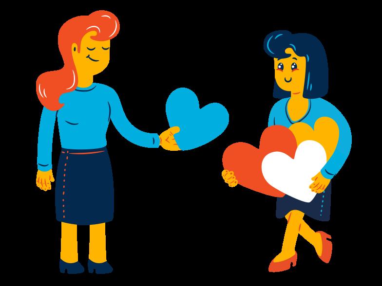 Herz als geschenk Clipart-Grafik als PNG, SVG