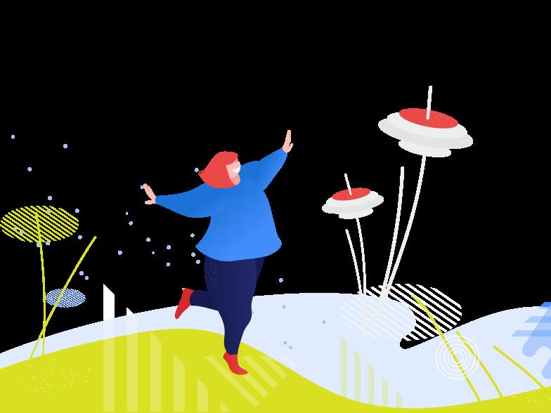 Enjoying summer nature Clipart illustration in PNG, SVG