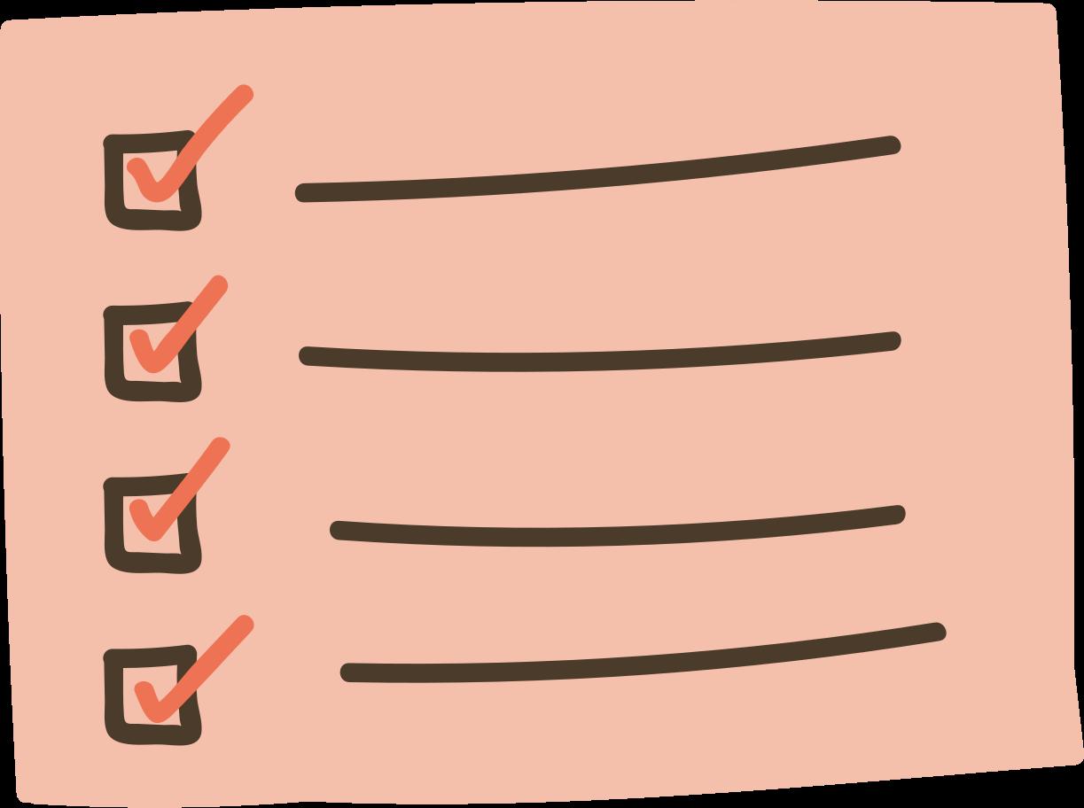list Clipart illustration in PNG, SVG