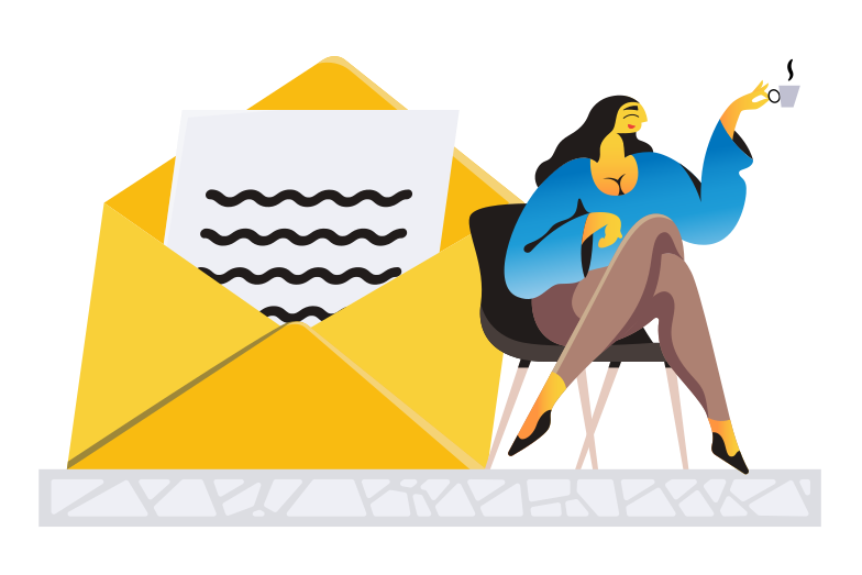 style Receiving message Vector images in PNG and SVG | Icons8 Illustrations