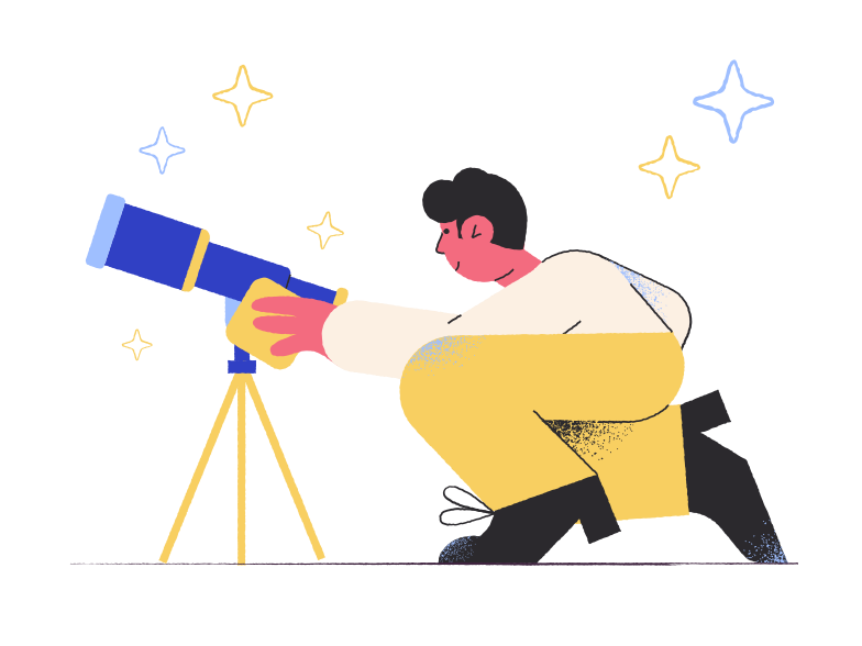 style Lovely telescope Vector images in PNG and SVG | Icons8 Illustrations