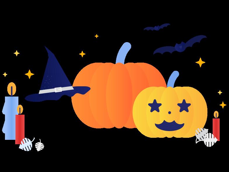 Tempo di halloween Illustrazione clipart in PNG, SVG