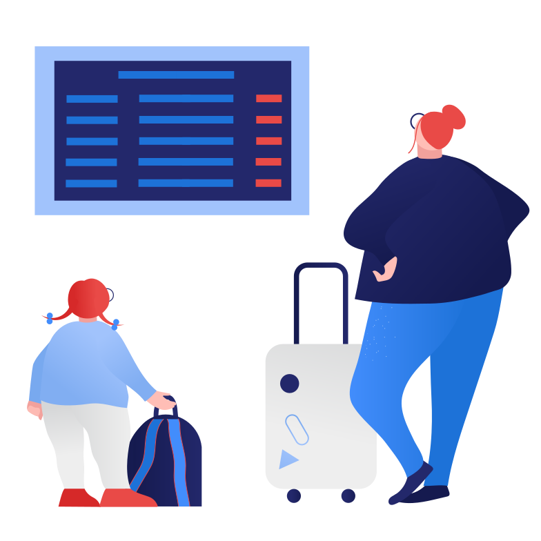 style Waiting for flight Vector images in PNG and SVG | Icons8 Illustrations