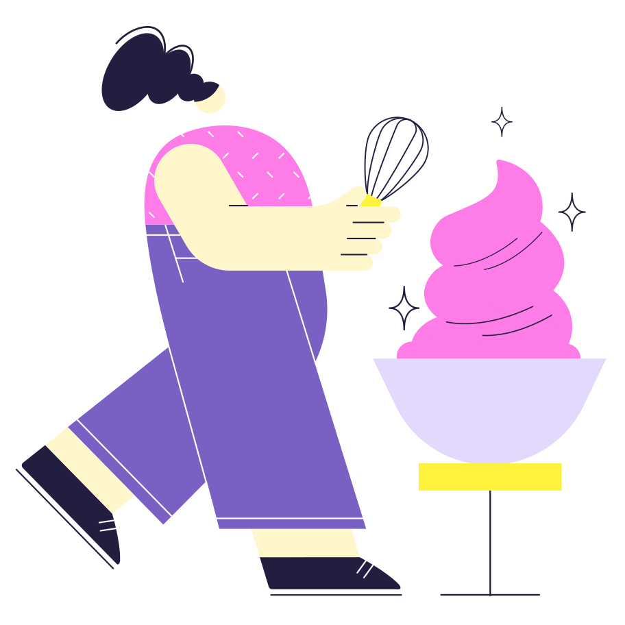 Cooking the cake! Clipart illustration in PNG, SVG