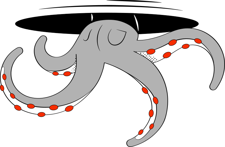 octopus tentacles Clipart illustration in PNG, SVG