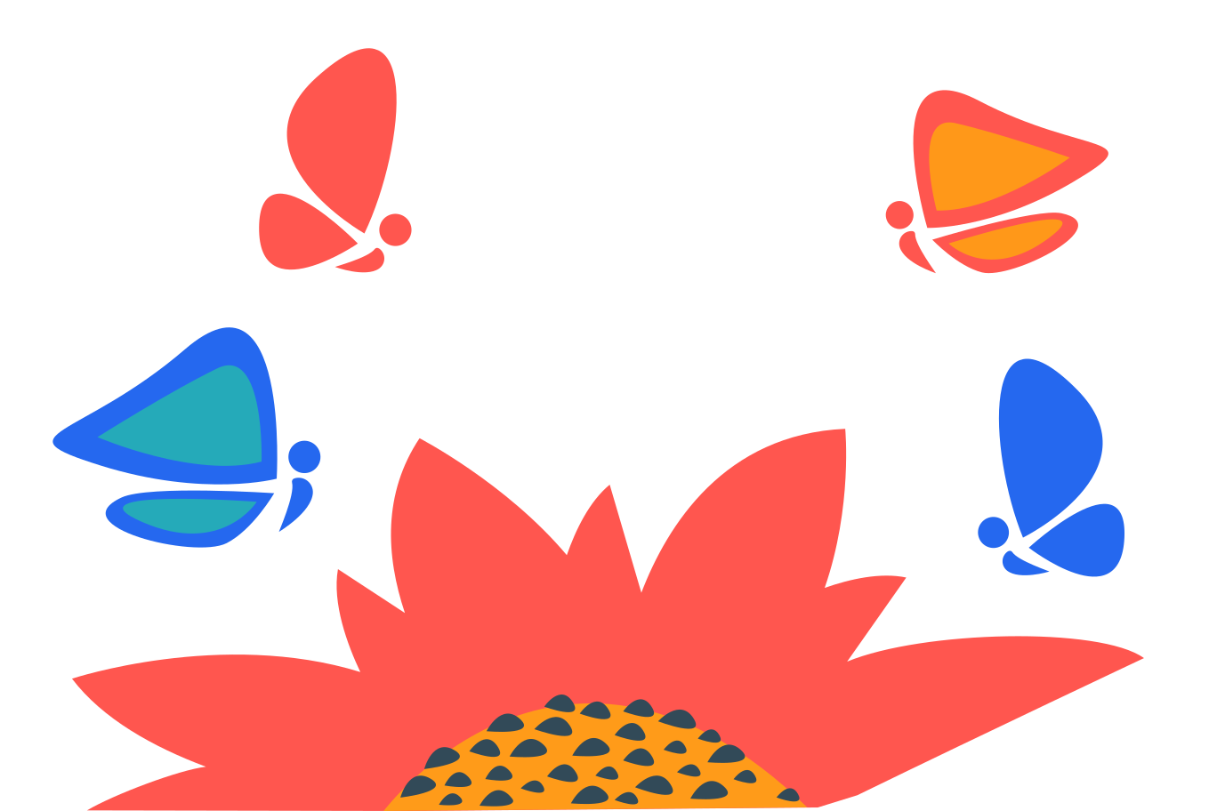 Butterflies Clipart illustration in PNG, SVG