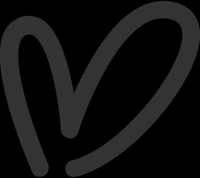 herz schwarz Clipart-Grafik als PNG, SVG